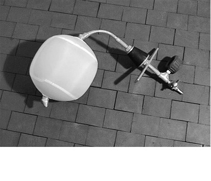 Balón obturador de gas con funda especial reforzada
